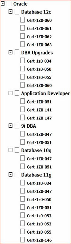 Current Oracle Certifications